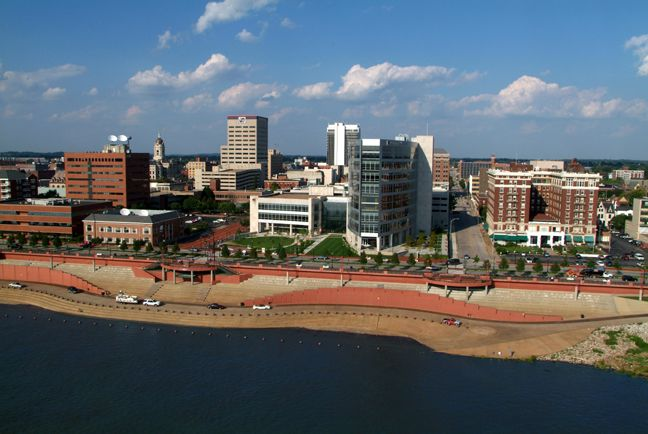 evansville indiana skyline evansville s downtown and riverfront is