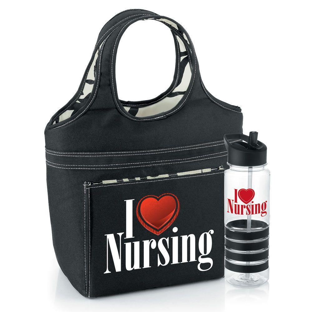 Nursing Water Bottle Swirl Lunch Bag