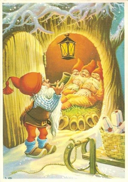 Pin By Marion Weisner On Gnomes And Elves And Fairies Scandinavian Christmas Christmas Art Christmas Illustration
