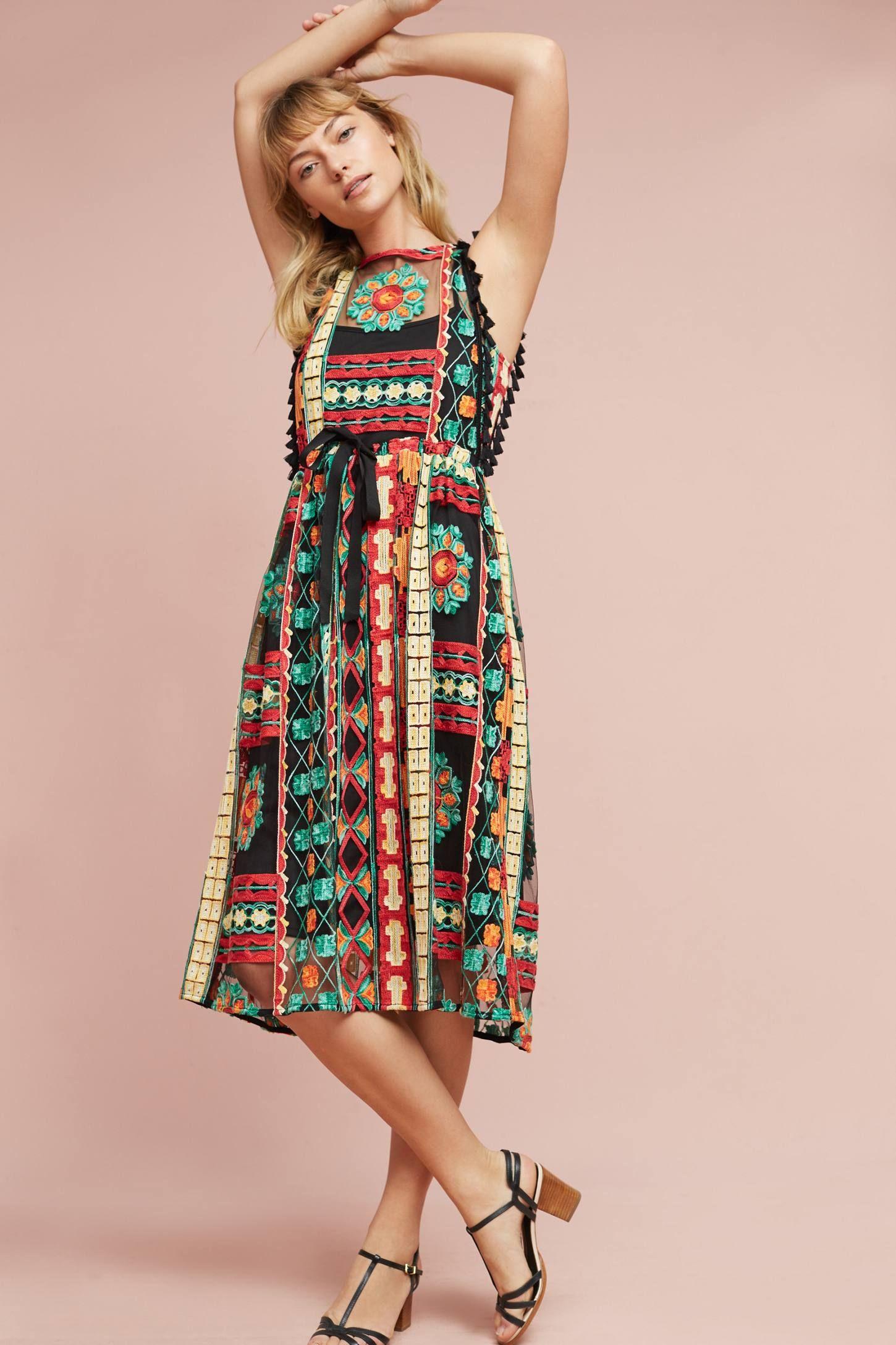 cf65cd384fd9 Saskia Embroidered Dress | Style Lust | Dresses, Fashion y Anthropologie