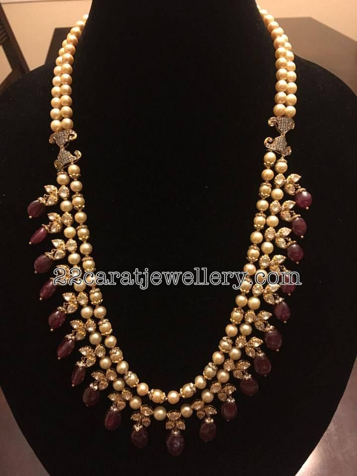 Two Layer Pearls Long Chain Two Layer