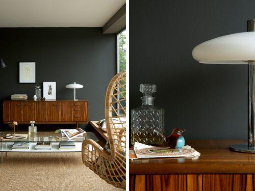 little greene peindre le salon en noir votre maison votre jardin rhinoc ros d 39 ionesco. Black Bedroom Furniture Sets. Home Design Ideas