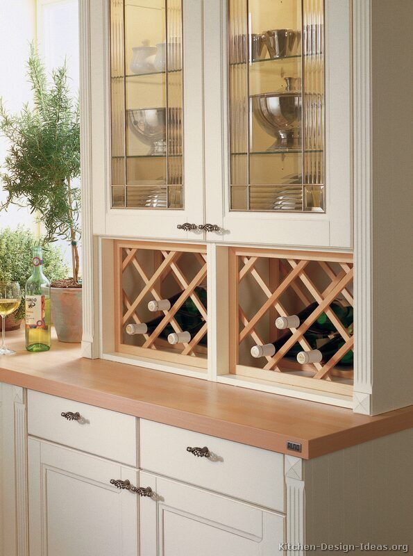 #Kitchen Idea Of The Day: Beautiful Glass Display Cabinet