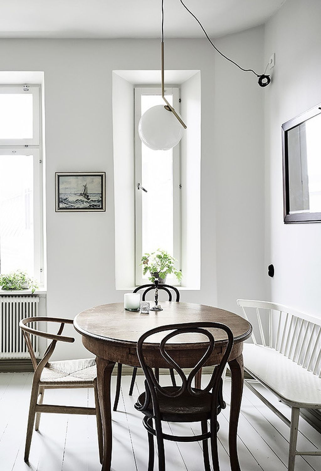 50 Simple Scandinavian Dining Room Ideas Decorating Ideas Home Decor Ideas And Tips Dining Room Small Small Round Kitchen Table Dining Table With Bench