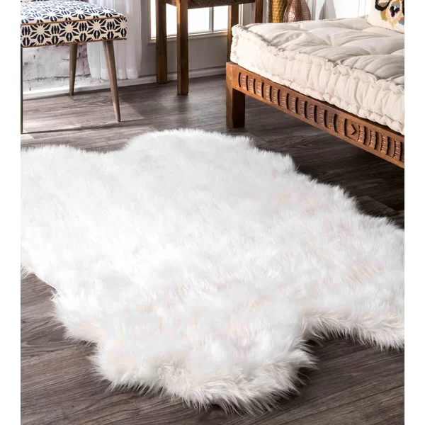 Marysville White Area Rug White Fluffy Rug Rugs On Carpet White Area Rug