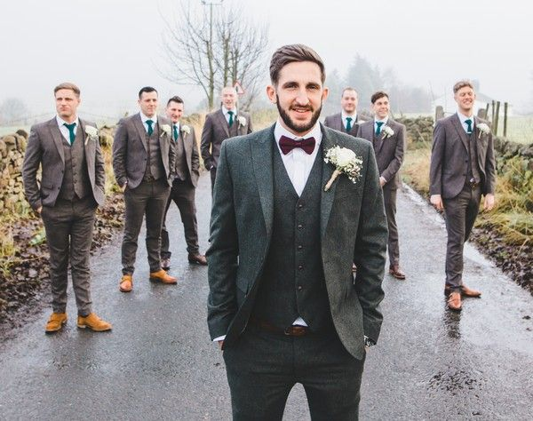 diversified in packaging sleek 2019 real Groomsmen in Tweed Suits in 2019 | Pub wedding, Wedding ...