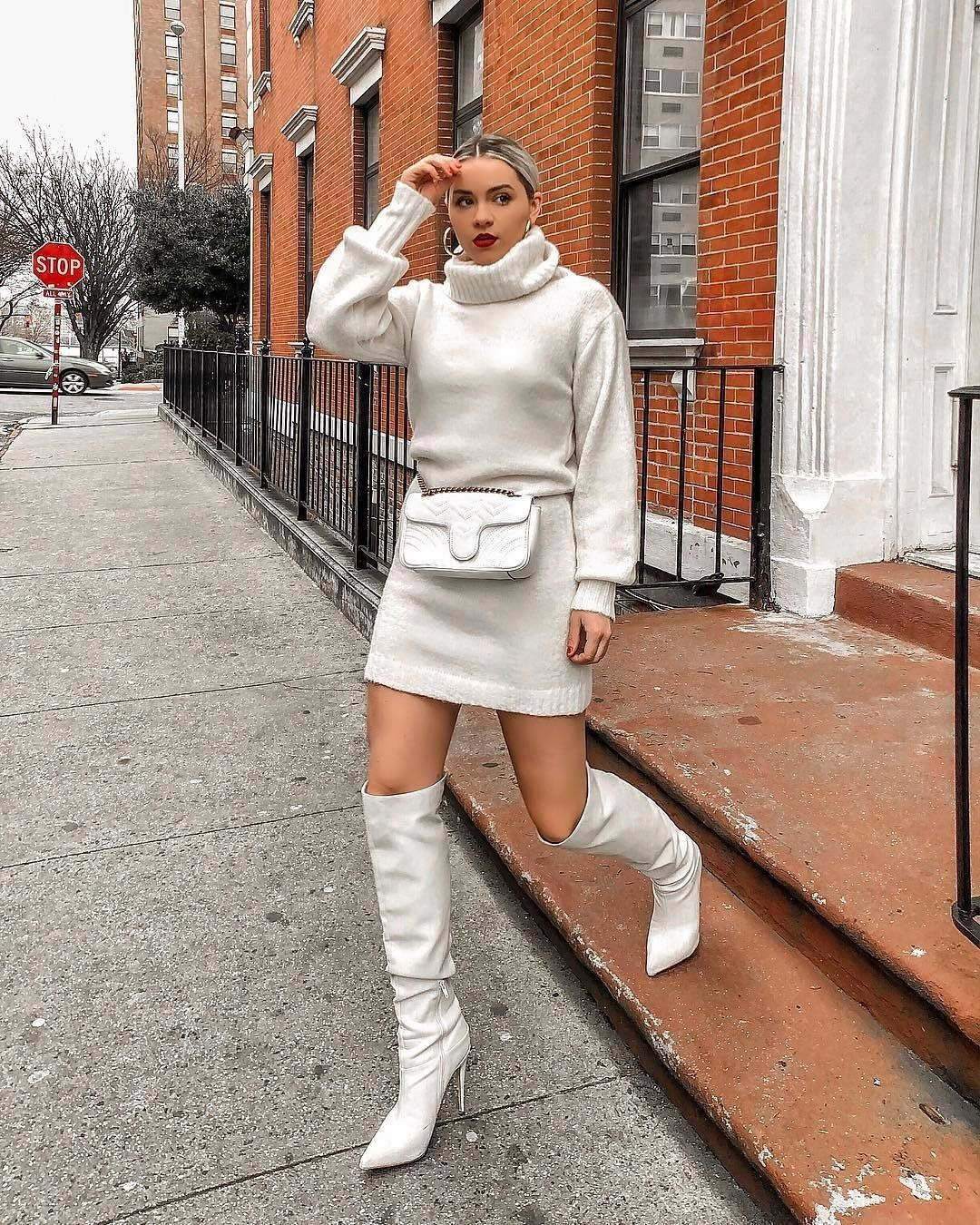 Winter Whites Kerifay Loveguess White Boots Outfit Fashion Urban Outfits [ 1350 x 1080 Pixel ]