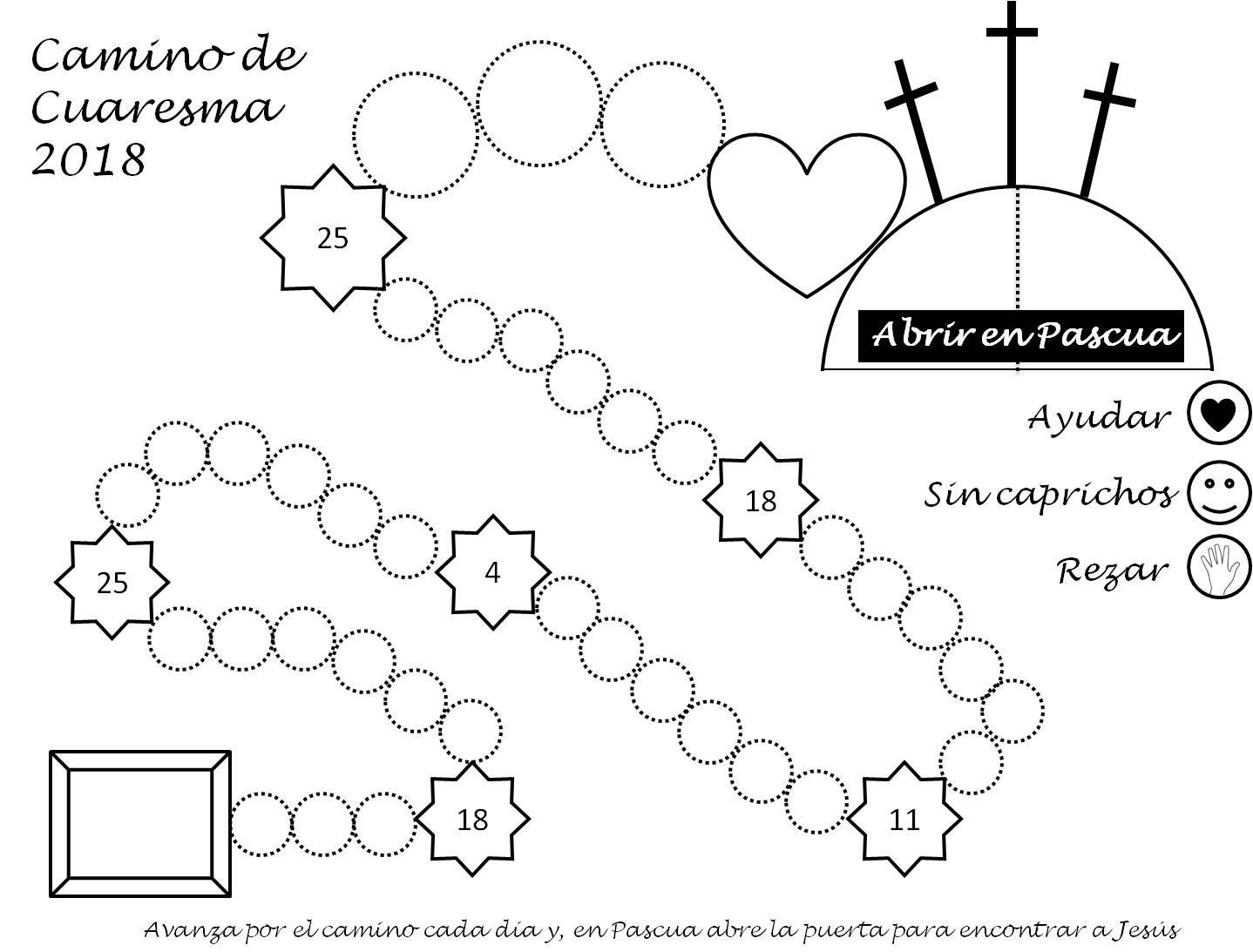 Camino de Cuaresma 2018 para infantil y primaria. Cada día se avanza ...