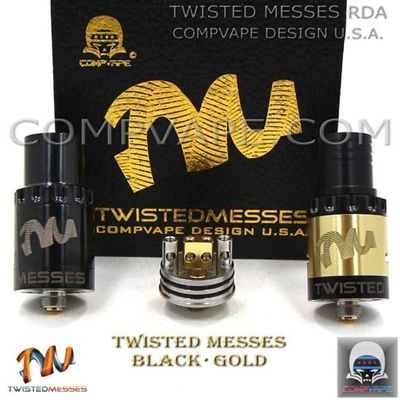 Twisted Messes RDA Black/Brass (Authentic)(out of stock) | RDA
