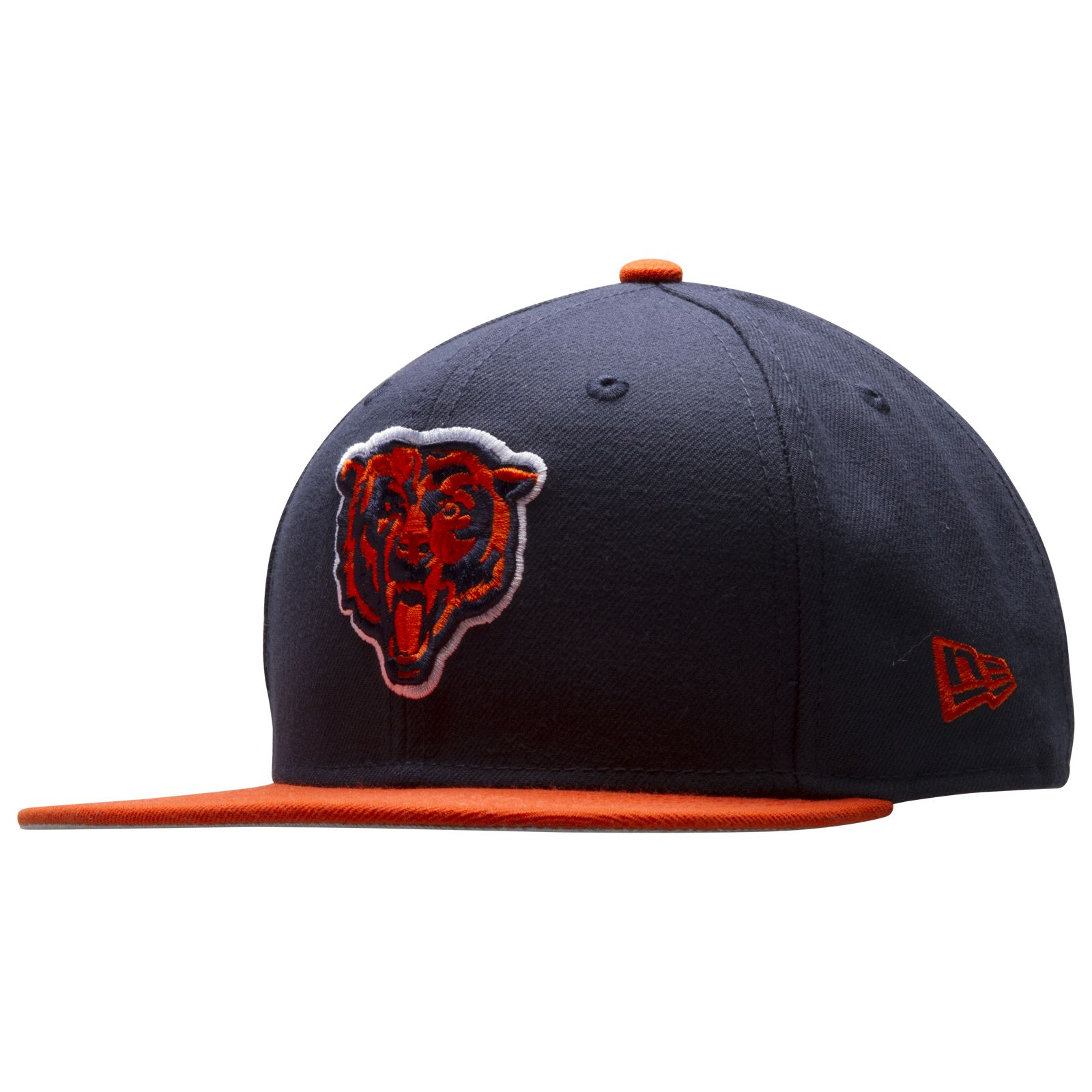Chicago Bears Navy and Orange Angry Bear Face Logo Snapback Hat by New Era   Chicago  Bears  ChicagoBears ed253965d0b7