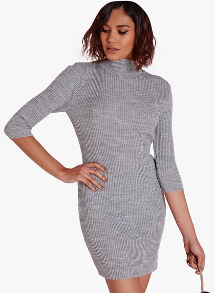 22faf8fdae9 Buy Missguided Mini High Neck Dress Grey for Women Online India ...