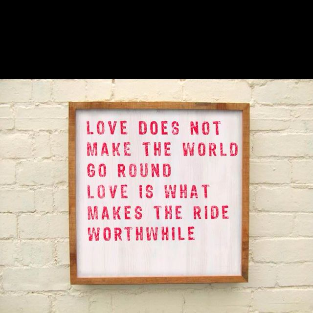 Love does...