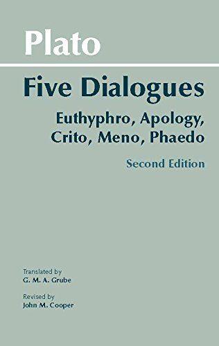 Plato: Five Dialogues: Euthyphro, Apology, Crito, Meno, Phaedo (Hackett Classics) by Plato http://www.amazon.com/dp/0872206335/ref=cm_sw_r_pi_dp_-lIUub1SBQZMM