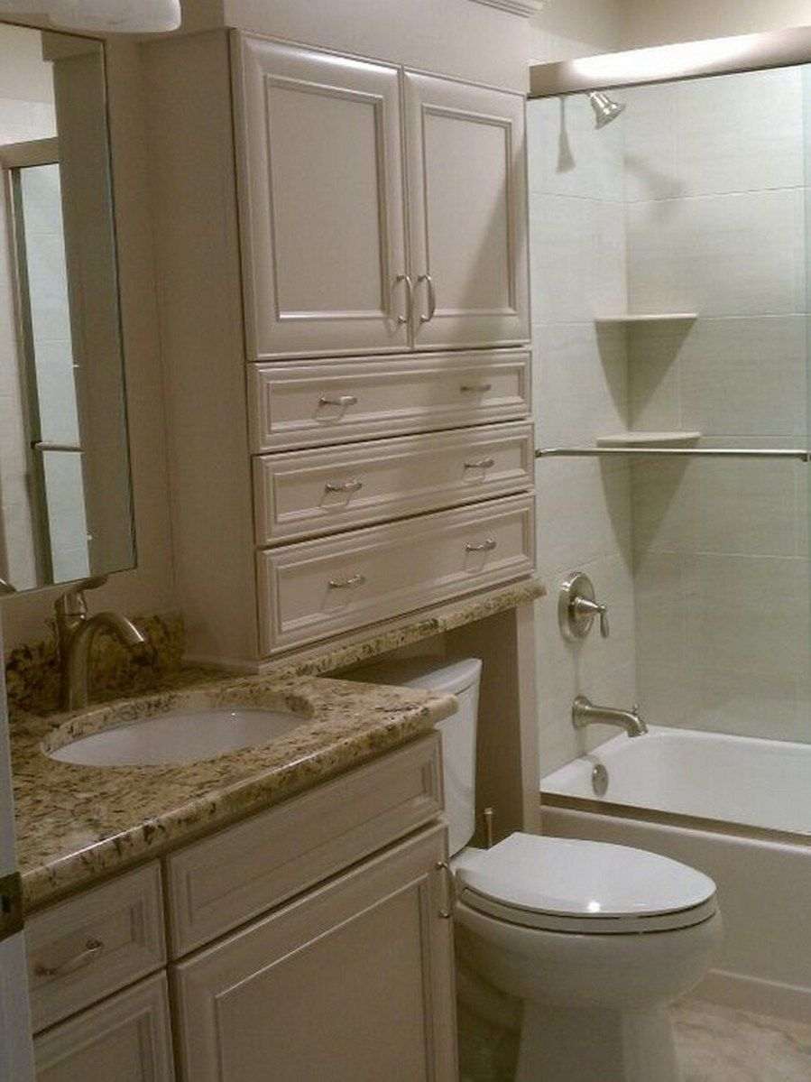 I Like The E Saving Idea Of Built In Cabinets And Drawers Over Toilet Instead Usual Free Standing Storage