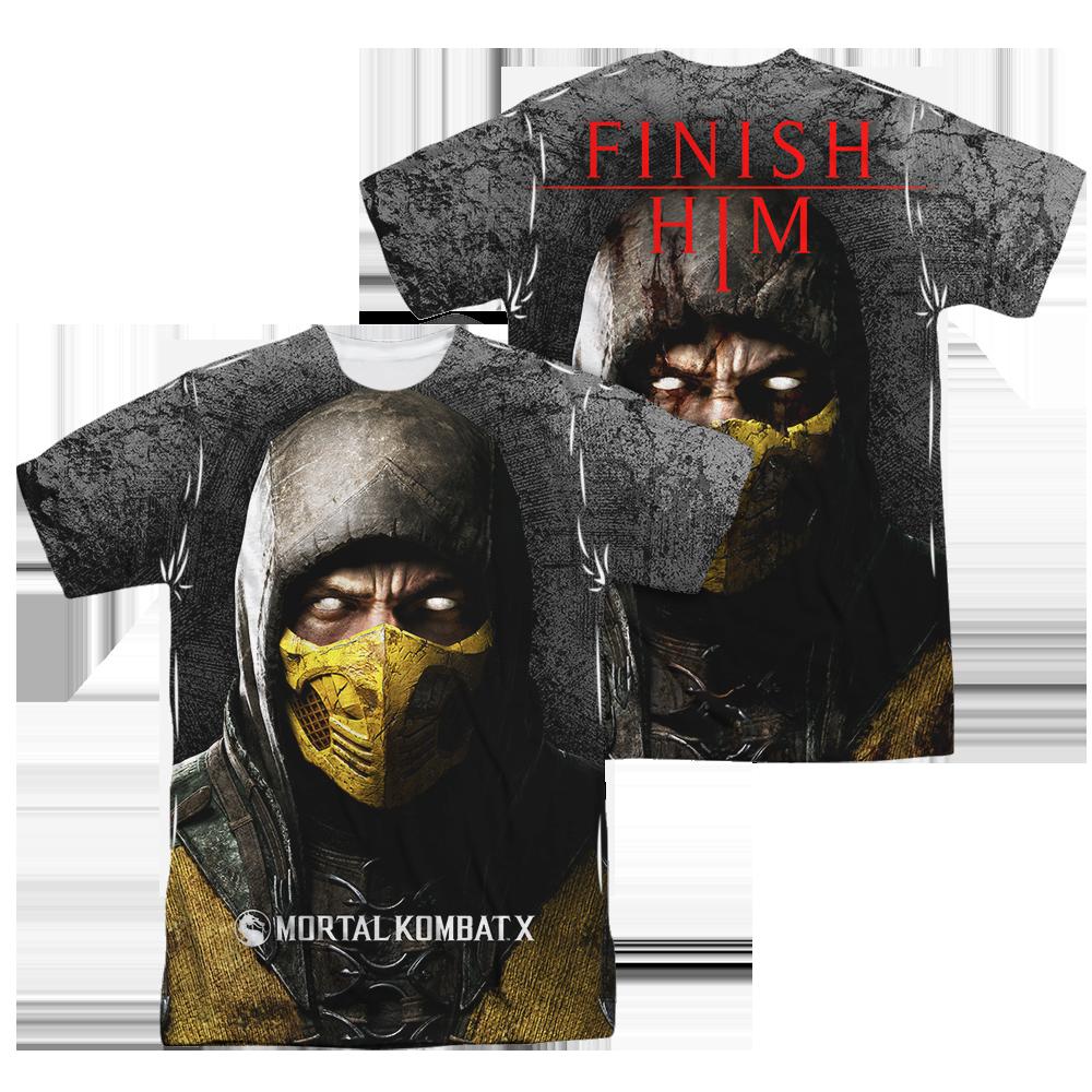 Mortal Kombat Finish Him Sublimated T Shirt Mortal Kombat Shirt Sublime Shirt Mortal Kombat Finish Him