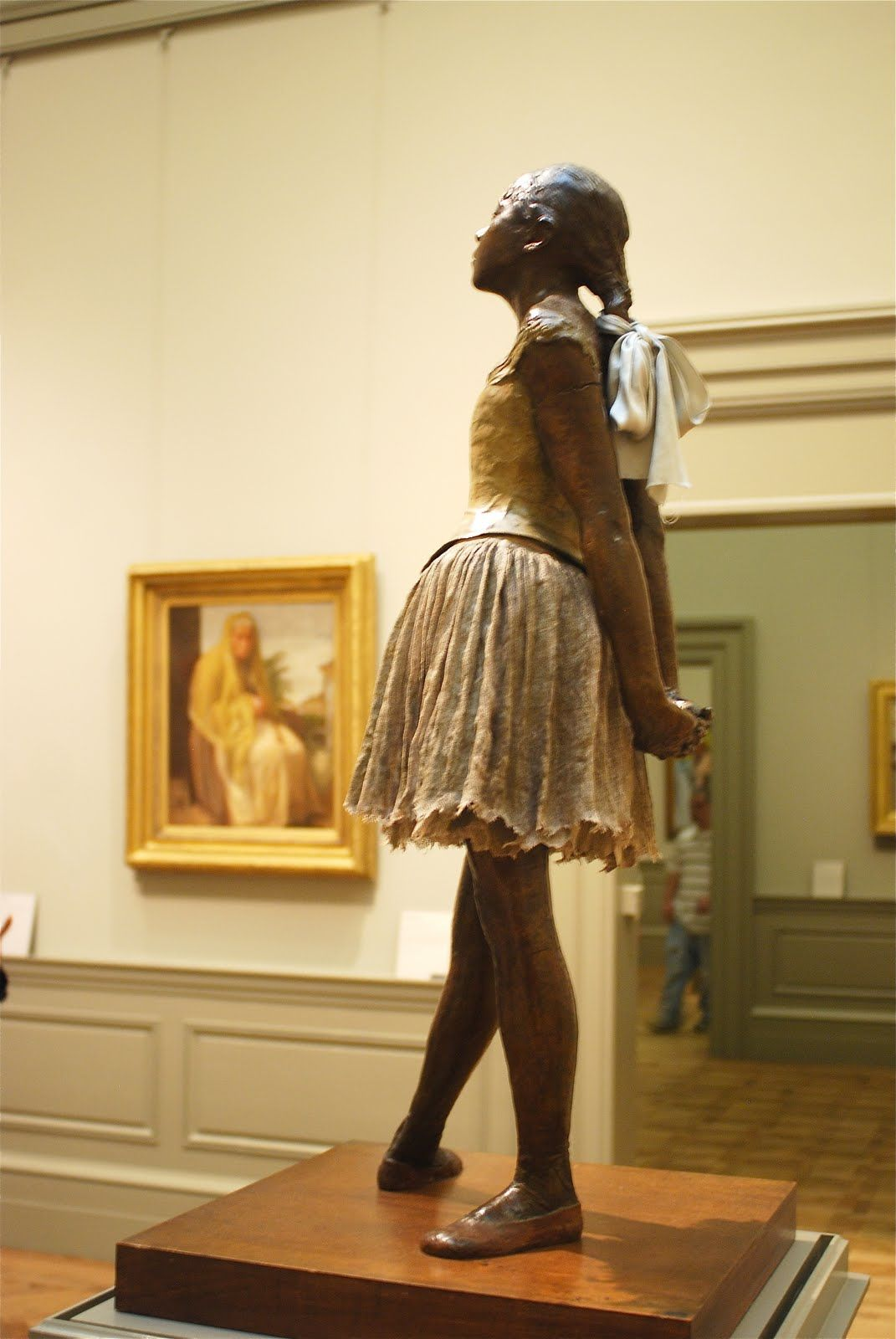 Behind Degas' famed ballerina. Always captivates me to see