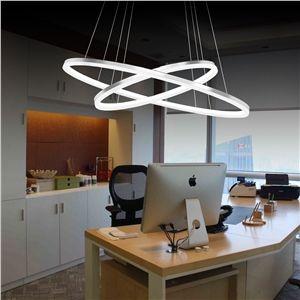 Perfect  EU Lager Led H ngeleuchte Modern Ring Design aus Acryl cm cm