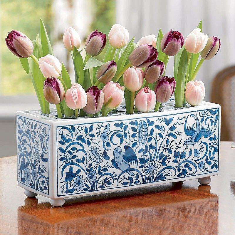 Delft porcelain flower brick rijksmuseum a striking and unusual delft porcelain flower brick rijksmuseum a striking and unusual flower brick vase reproducing an original piece mightylinksfo