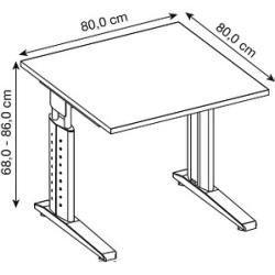 Desks & desks -  Hammerbacher height-adjustable desk Haziender walnut square HammerbacherHammerbacher  - #amp #desks #LivingRoomDesigns #ModernHouseDesign #OfficeDesigns