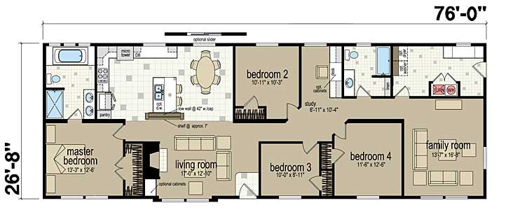Floor Plans Avalanche 4624a Manufactured And Modular Homes Floor Plans Modular Homes Mobile Home Floor Plans