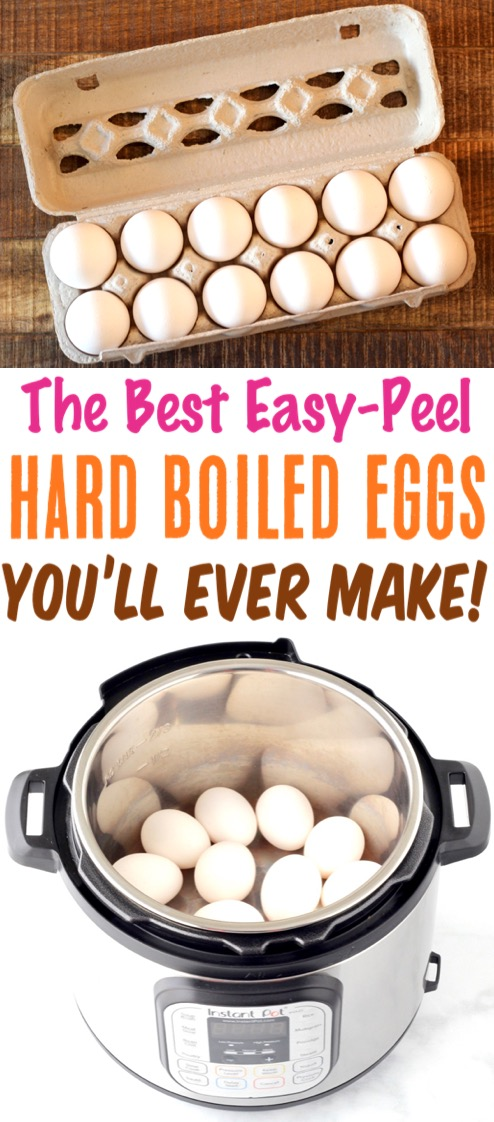 Pressure Cooker Hard Boiled Eggs Recipe! {Instant Pot}