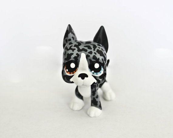 Custom Littlest Pet Shop Grey Great Dane By Missbluejayclay Lps