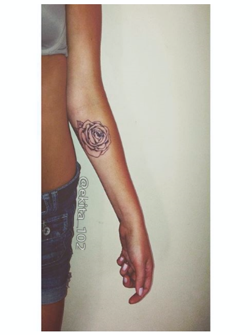 Small Tattoo Size: Rose Tattoo, Inspirational Tattoos