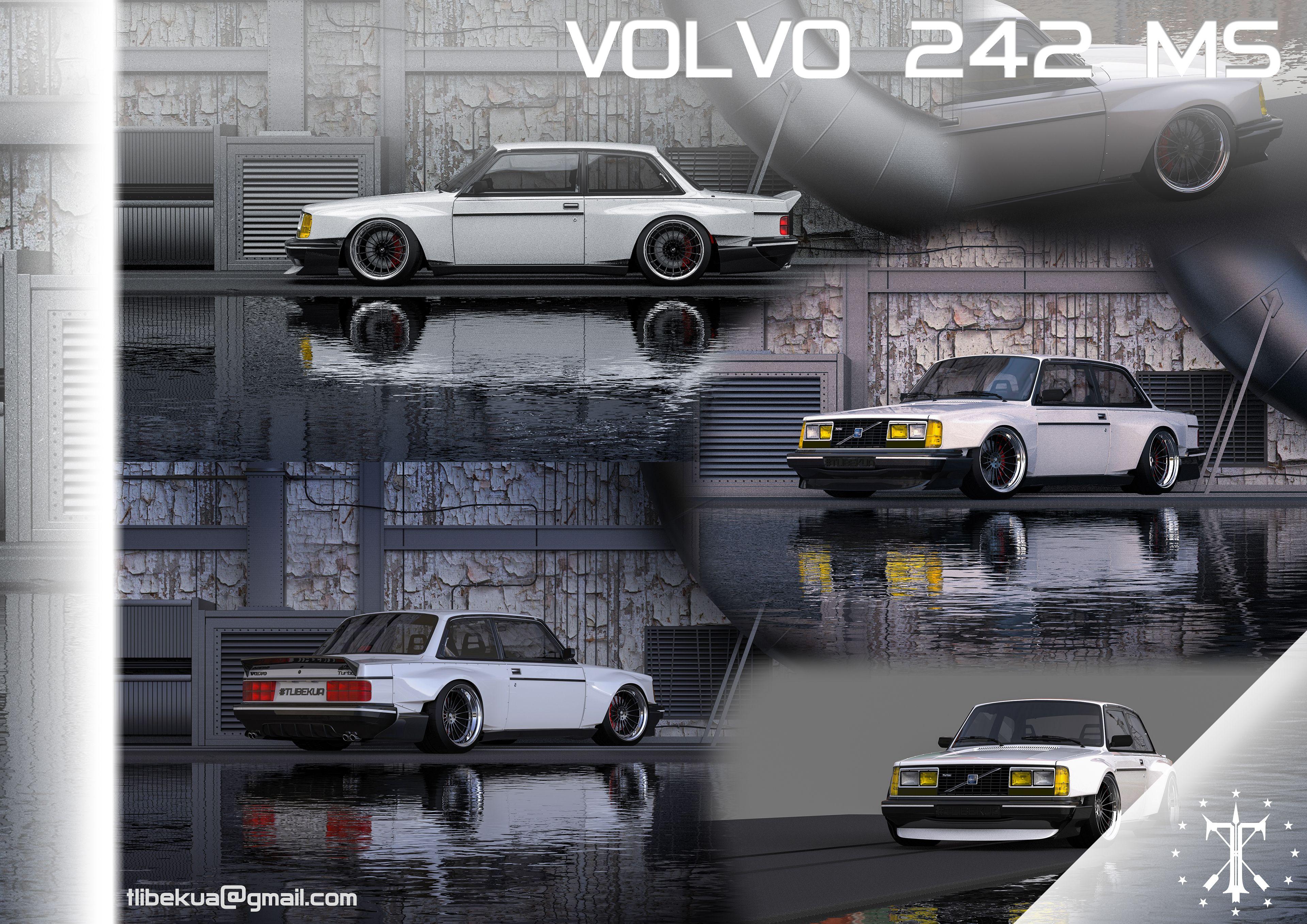 Body Kit For Cool Model Of Volvo Volvo 242 Turbo Volvo
