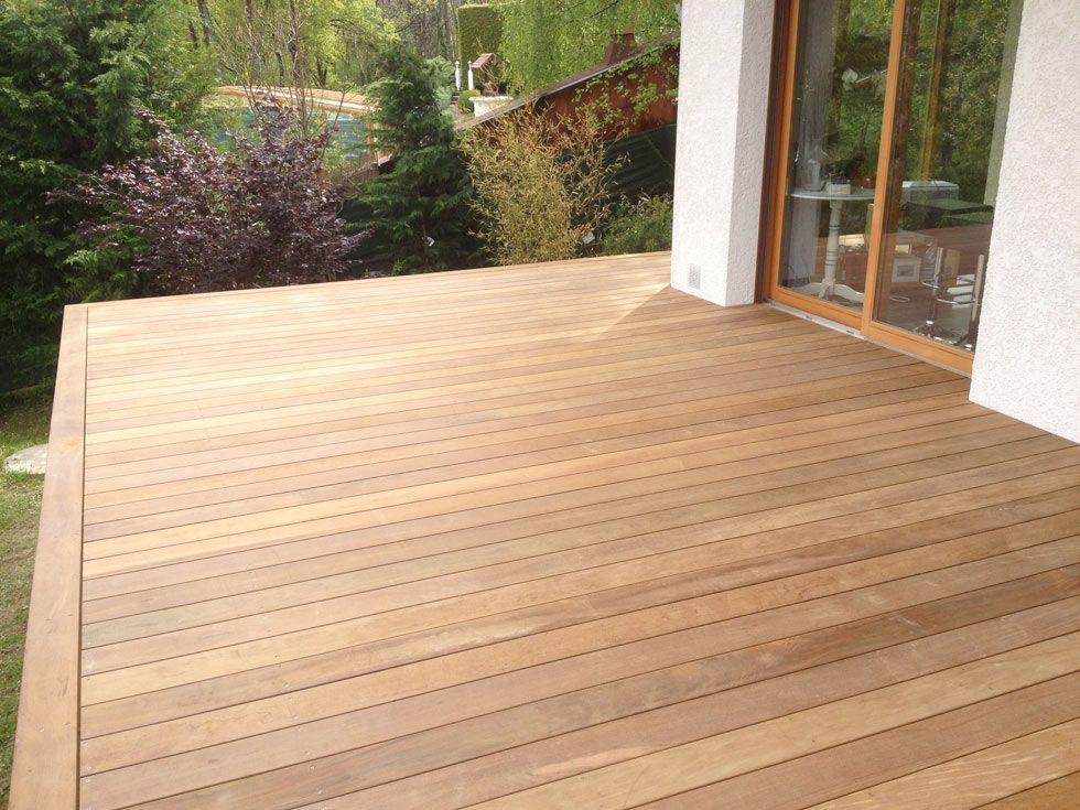 Terrasse en bois exotique (Ipé) sur pilotis + escalier Deck
