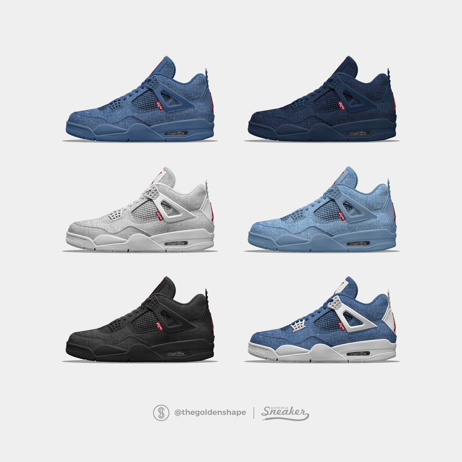 sale retailer c231e 9a73b Levi s x Air Jordan 4 Denim Pack