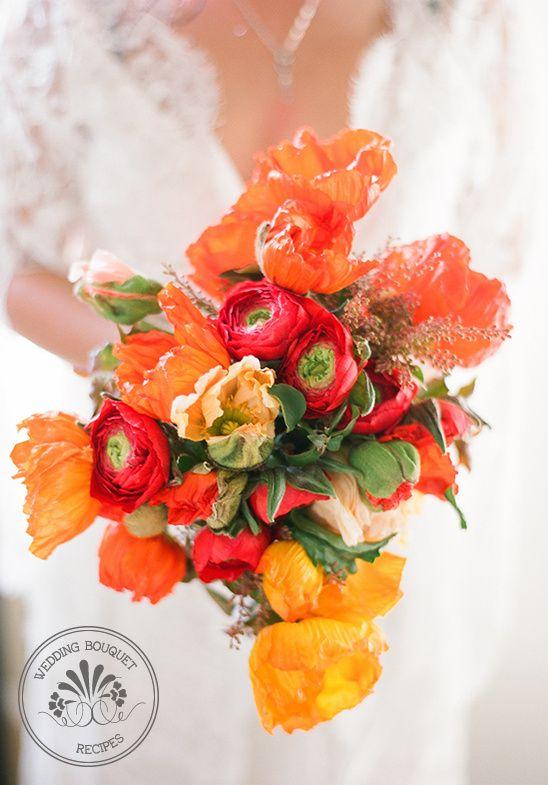Peach and red wedding bouquet poppy wedding bouquets wedding and poppy wedding bouquet mightylinksfo