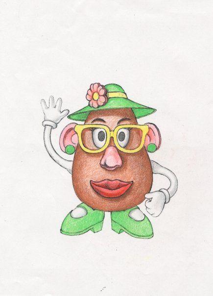 Mrs Potato Head Drawing Drawings Animation Film Potato Drawing