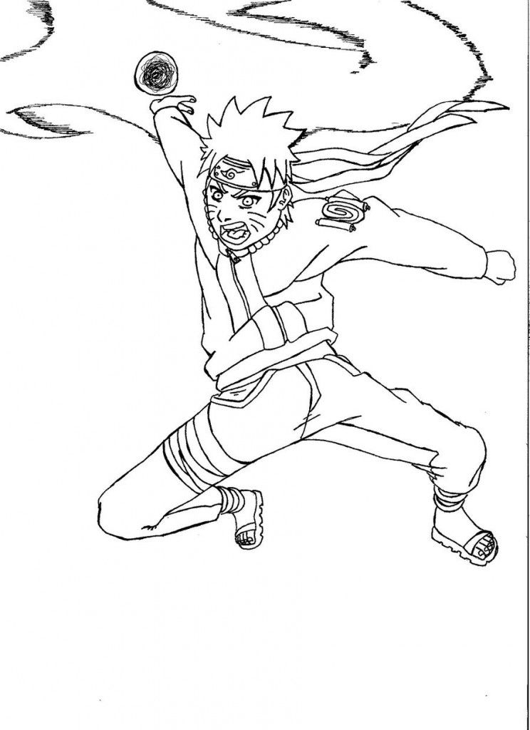 Free Printable Naruto Coloring Pages For Kids | Naruto | Pinterest