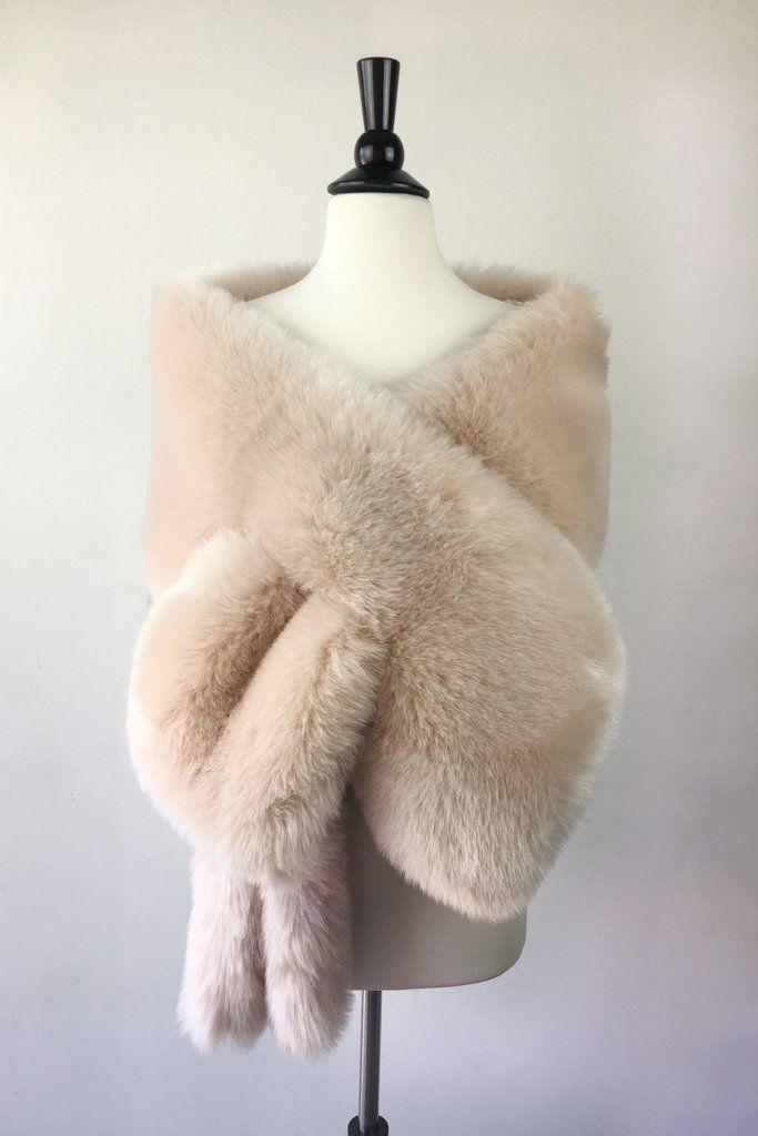 Light brown blush pink faux fur bridal wrap shrug wedding faux fur cape Wedding Fur shrug Bridal Faux Fur Stole faux Fur Shawl Cape zCT9xYxP