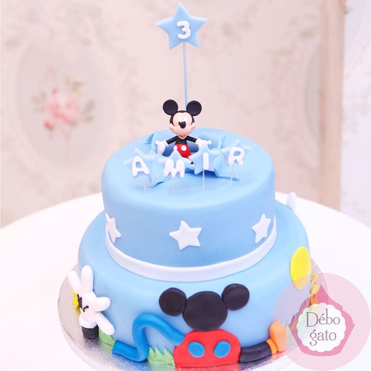 Afficher Limage Dorigine Gteau Pte Sucre Baby Mickey Baby
