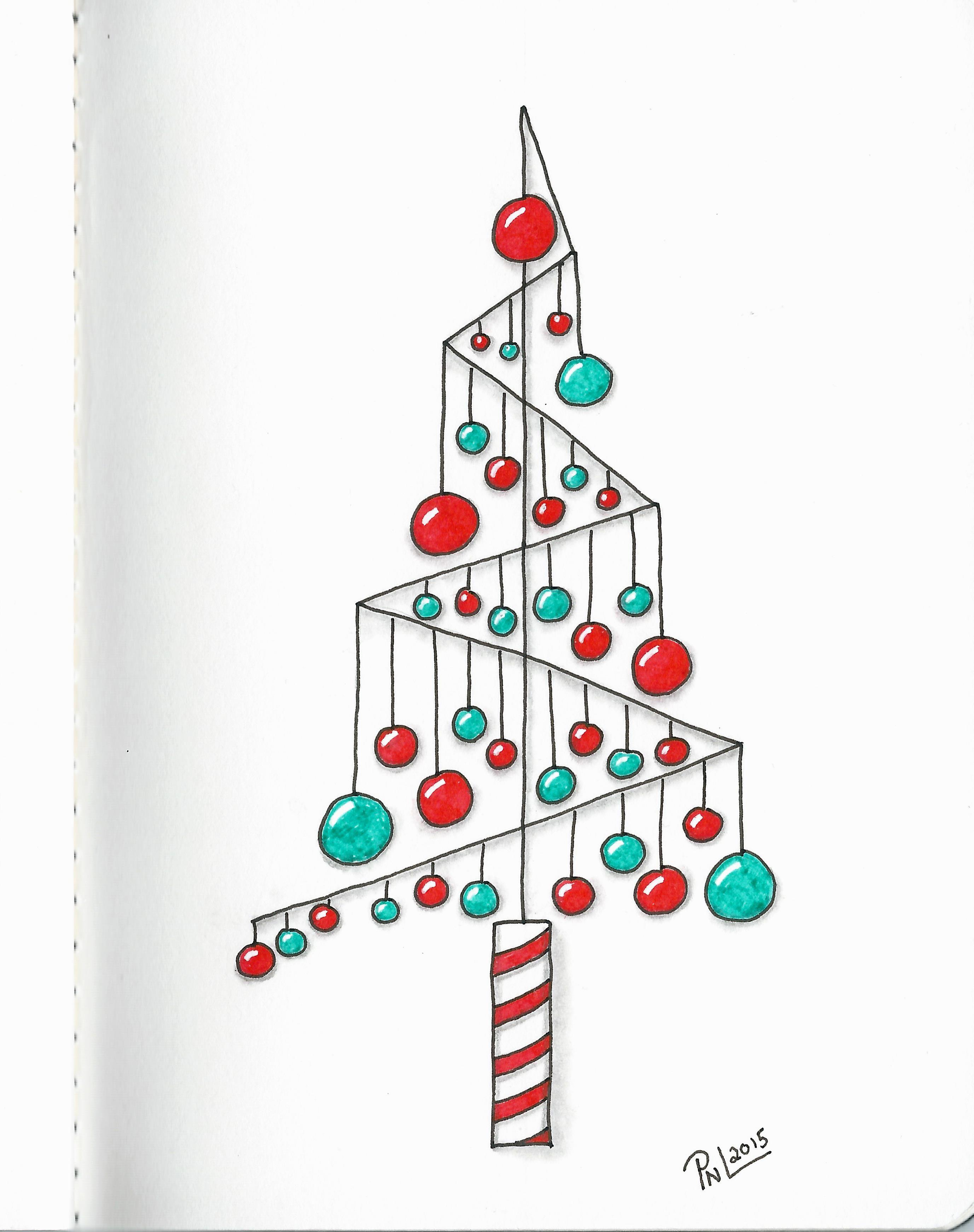 7 Of 16 Christmas Trees Show Casing A Single Tangle Tangle Used Is Pomalom Christmas Doodles Christmas Cards Handmade Christmas Drawing