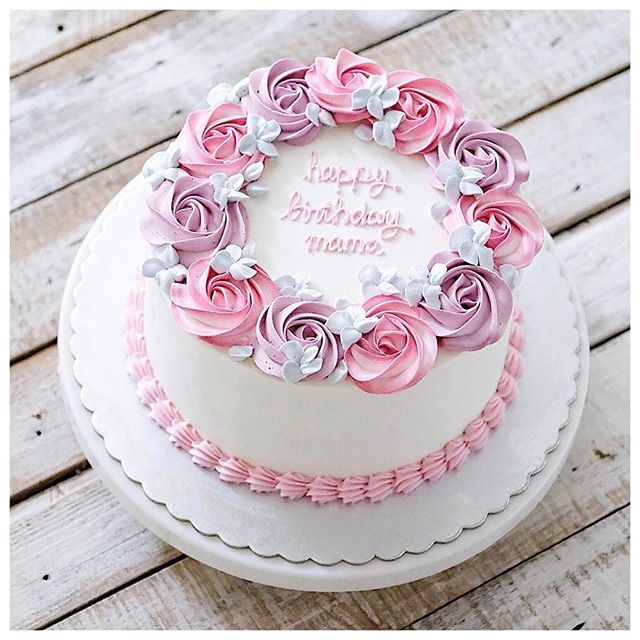 Simplicity With Originality Is Better Buttercream Cake Designs Buttercream Cake Easy Cake Decorating