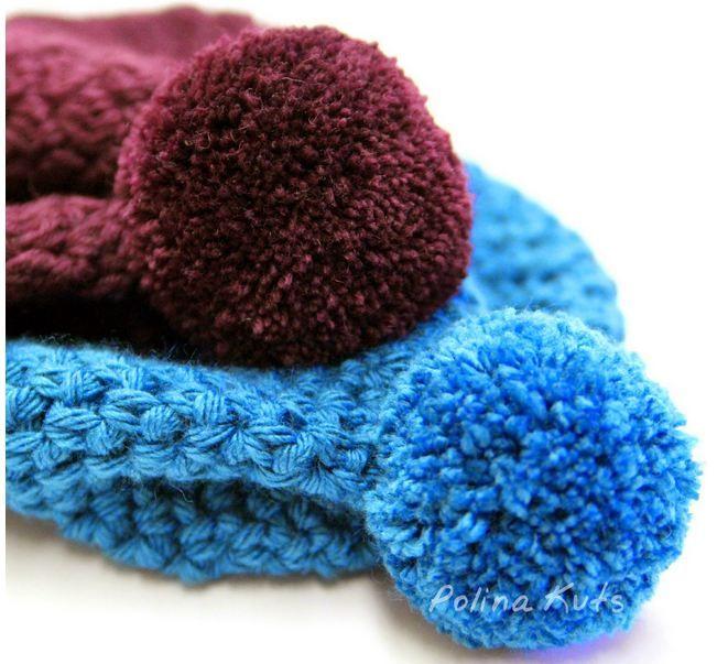 pom pom de lana para gorro | gorros | Pinterest | Patrones de ...