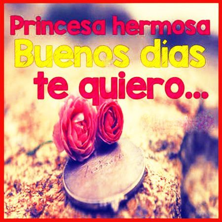 Buenos Días Princesa Imajenes Picks Pinterest Love