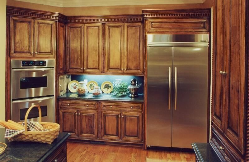 Rustic style kitchen cabinets - GharExpert Homes Pinterest