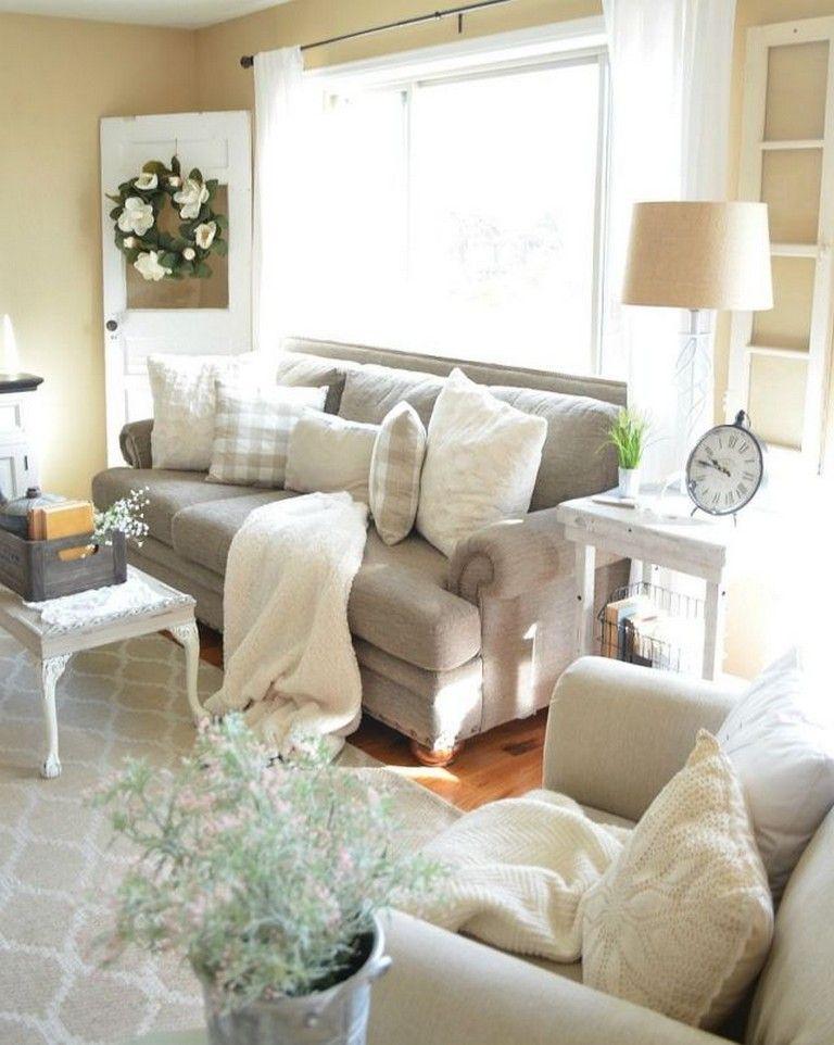 70 Inspiring Rustic Farmhouse Style Living Room Design