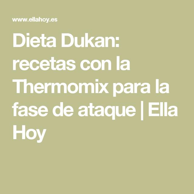 recetas fase de ataque dukan thermomix