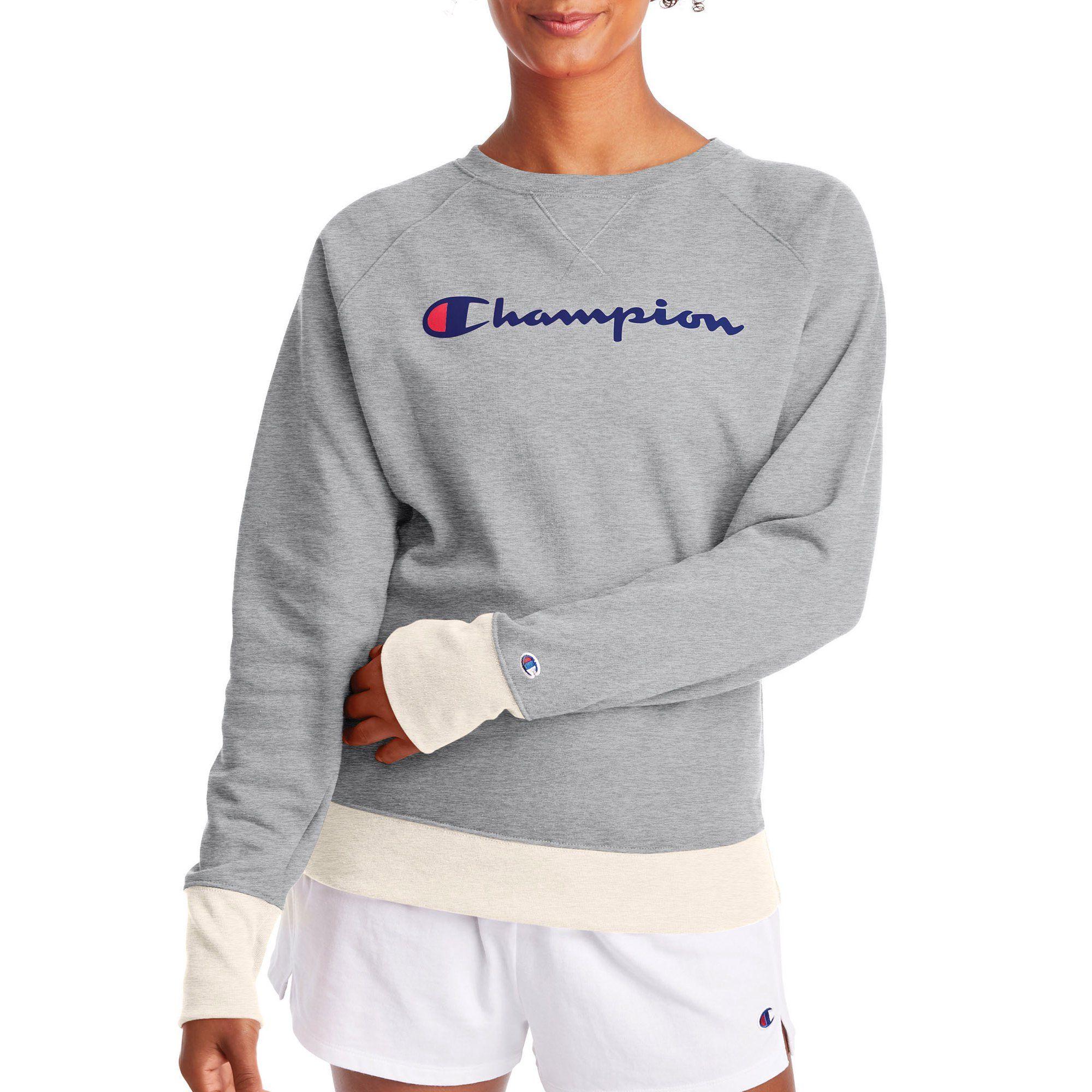 Champion Champion Women S Powerblend Fleece Boyfriend Crew Neck Sweatshirt Graphic Walmart Com Walmart Com Sweatshirts Crew Neck Sweatshirt Clothes [ 2000 x 2000 Pixel ]