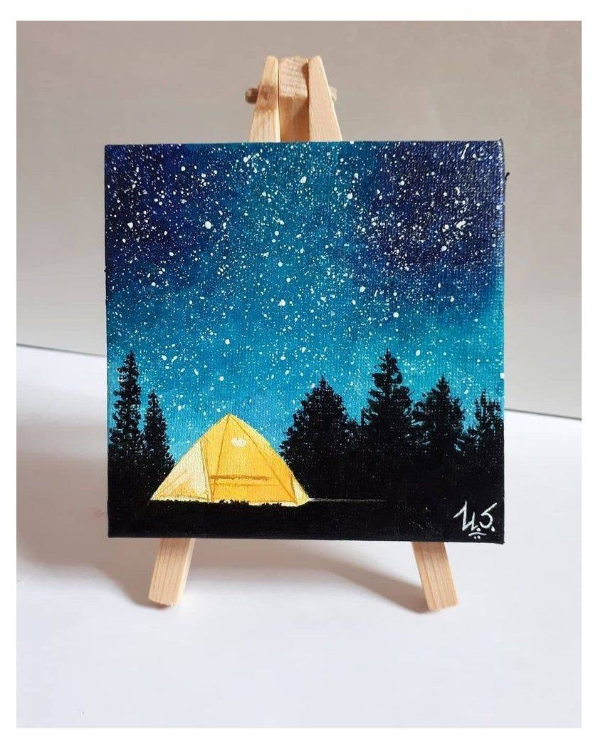 small canvas tent