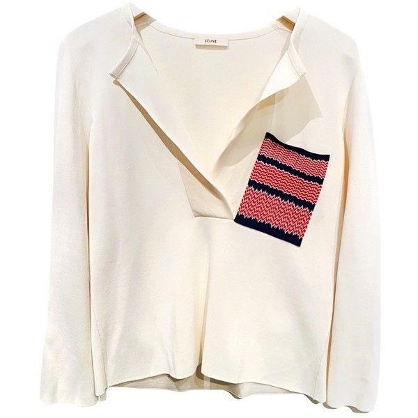 a5967c5e52c Silk jumper CÉLINE (£535) ❤ liked on Polyvore featuring tops ...