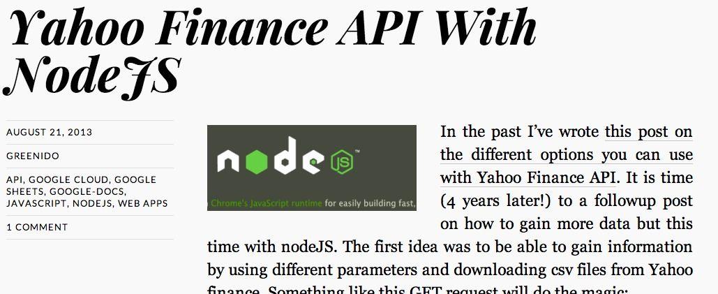 Top 10 Punto Medio Noticias | Yahoo Finance Api Javascript