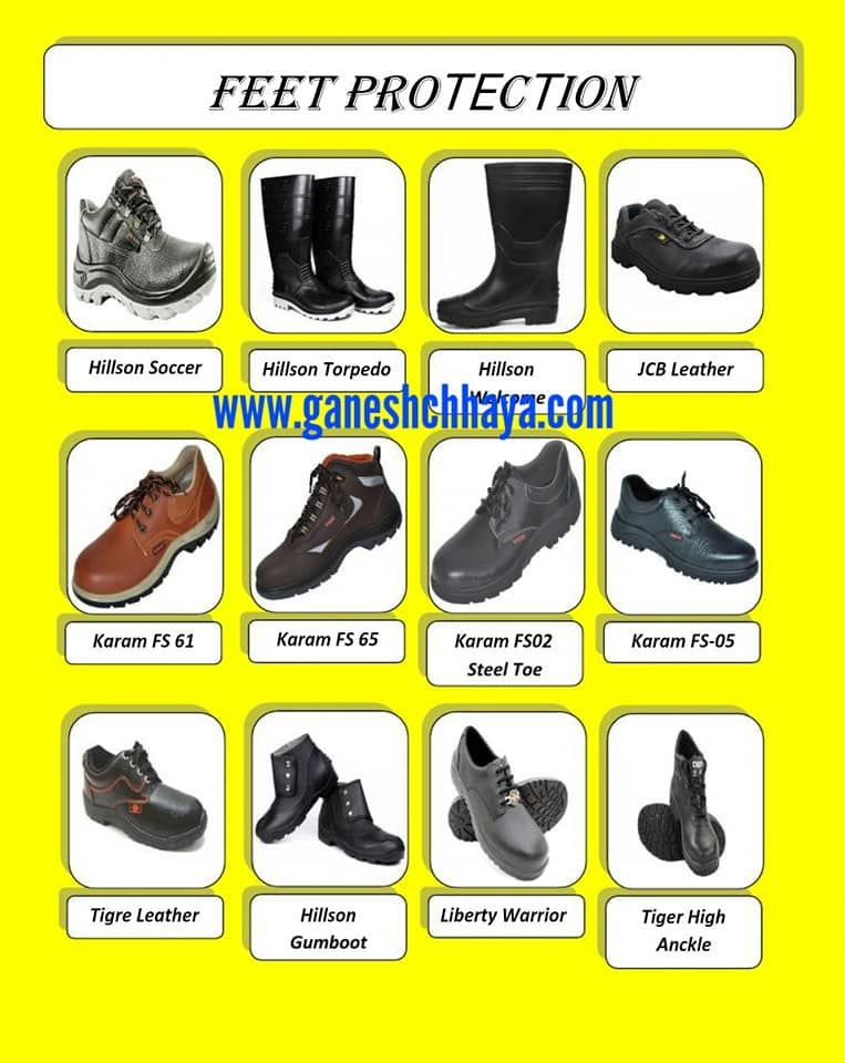 Safety shoes safety shoes ear protection head protection