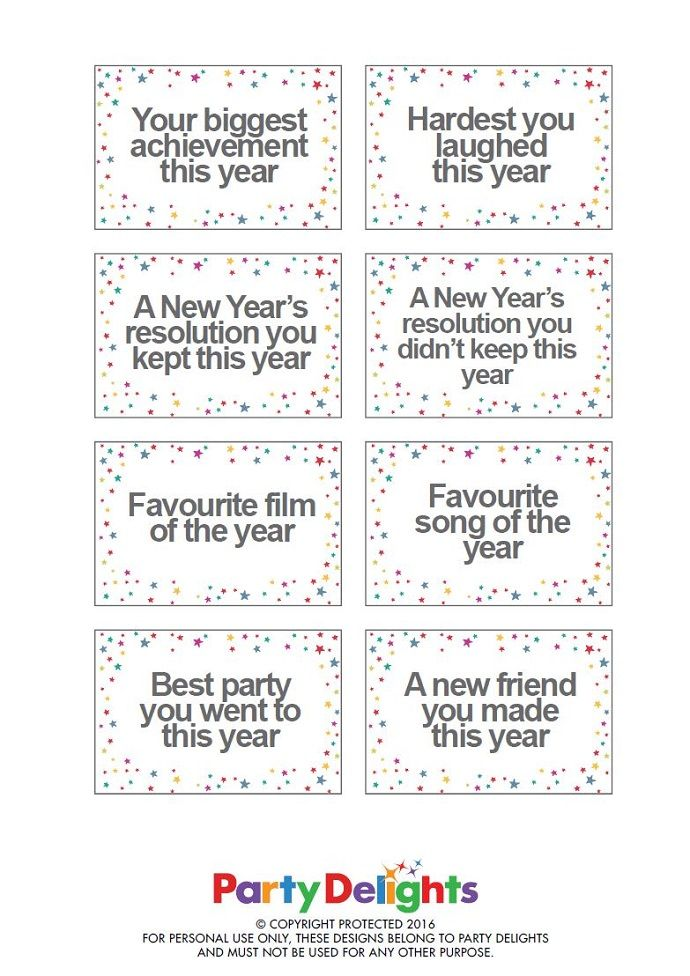 Free Printable New Year S Eve Party Game New Year S Eve Service