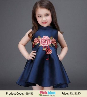 Vintage Baby Girl Party Dress   Princess Sleeveless Dress in ...