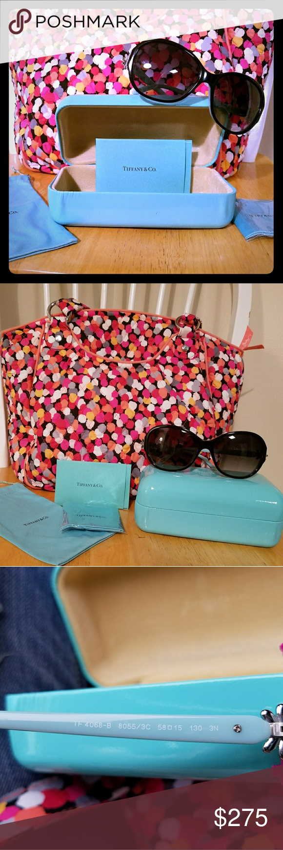 14ae4a225922 🎀Tiffany   Co.🎀 Daisy Sunglasses Authentic Tiffany and Co sunglasses just  in time for summer! They have a cute little Silver 🌼Daisy🌼 on the side of  them ...